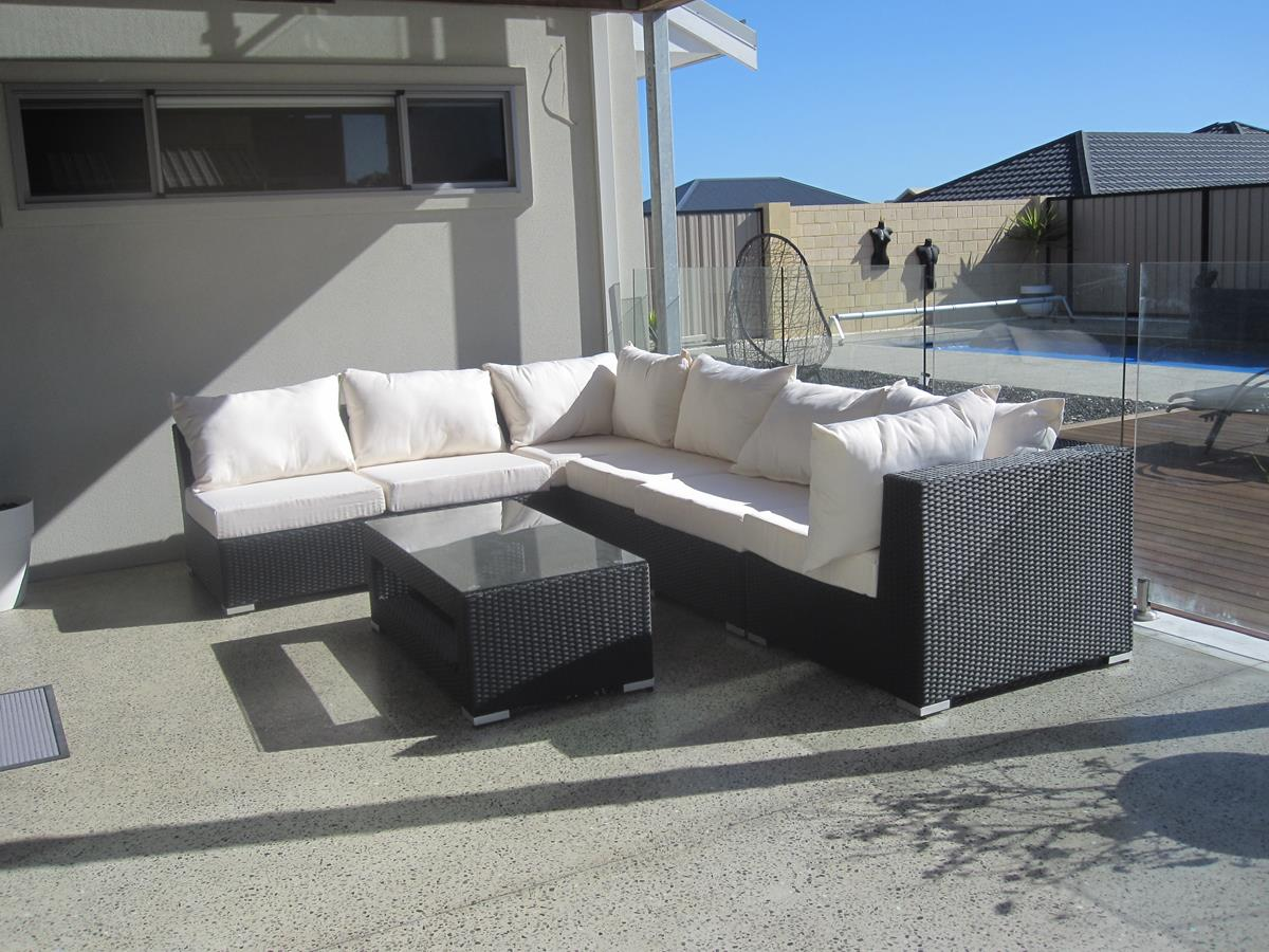Outdoor Wicker Modular Lounge Setting for Perth