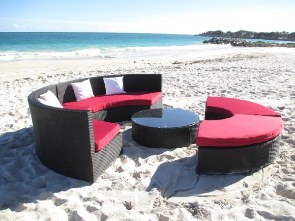 Modern and cheap outdoor wicker lounge set
