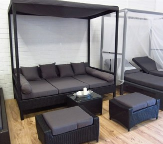 Beautiful large outdoor day bed lounge. From Urbani Furniture.