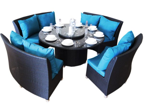 Copacabana with blue cushions