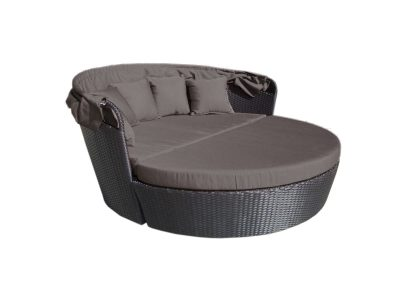 Gorgeous day bed with retractable canopy. Includes a hidden coffee table.