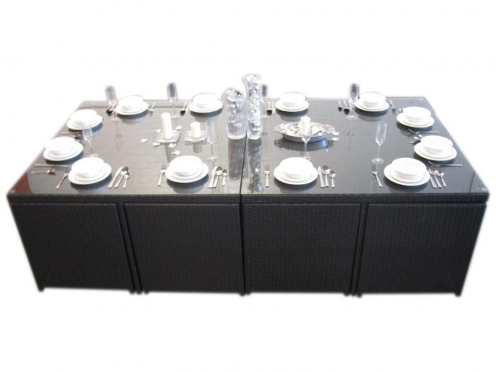 12 Seat Dining Set with Compact Design