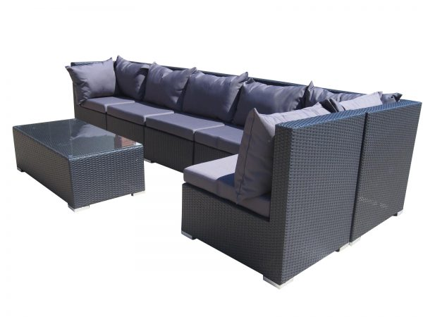 Beautiful wicker outdoor lounge with an L shape in Perth