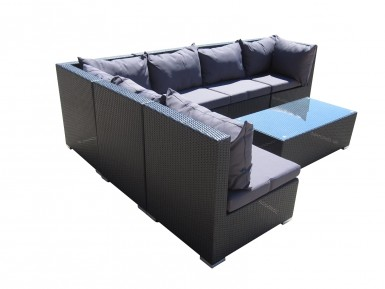 Beautiful all weather wicker outdoor garden modular lounge in Perth