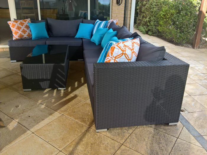Outdoor Wicker Modular Lounge Couch for the Patio in Perth