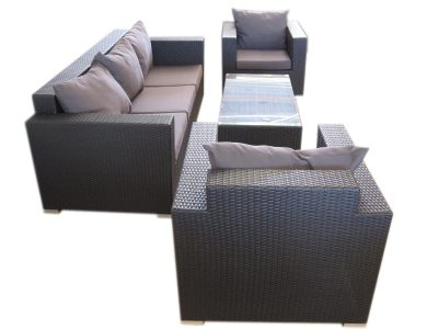 Three seat comfortable sofa for the garden in Perth. Furniture made for all weather.