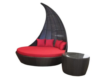 A large wicker day bed for by the pool. Furniture just for Perth.