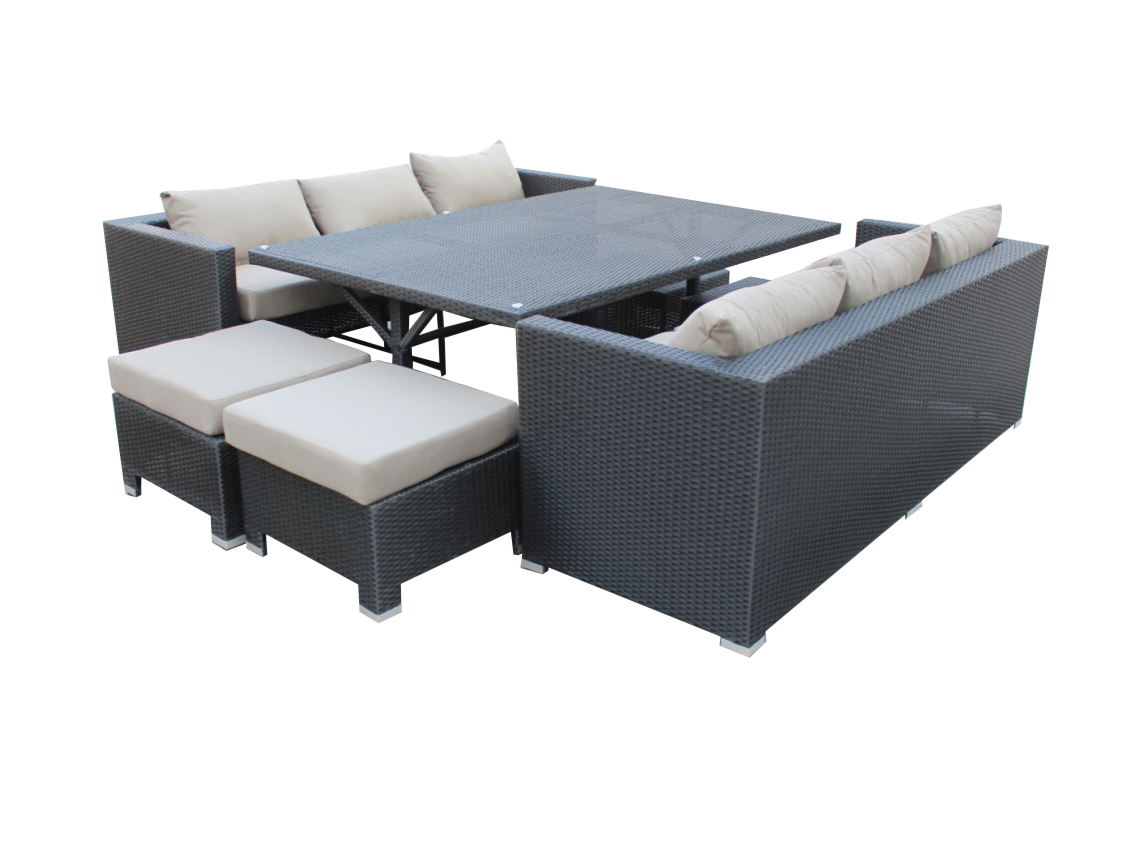 A cheap outdoor sofa dining set. So Modern.