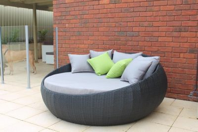 Large Round Outdoor Day Bed by the Pool in Perth