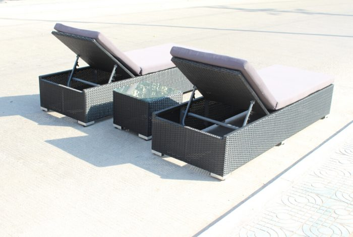 All weather wicker sun lounges for customers looking for outdoor wicker furniture in Perth.