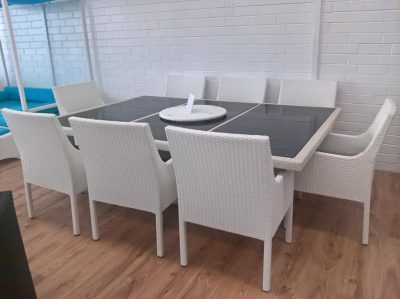 Floorstock clearance 8 chairs and dining table