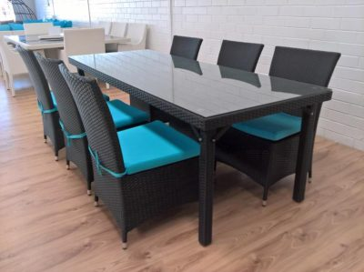 Wicker Outdoor 6 Seat Dining Setting in Perth for the Patio