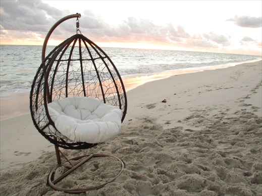 Large hanging chair for the outdoors